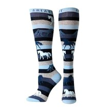 Ariat A10011073 Womens Lineage Horse Knee High Socks, Blue One size - $26.71