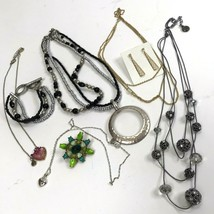 Small Lot of Vtg To Modern Jewelry Premier Designs Avon Worthington LC hearts - $19.79
