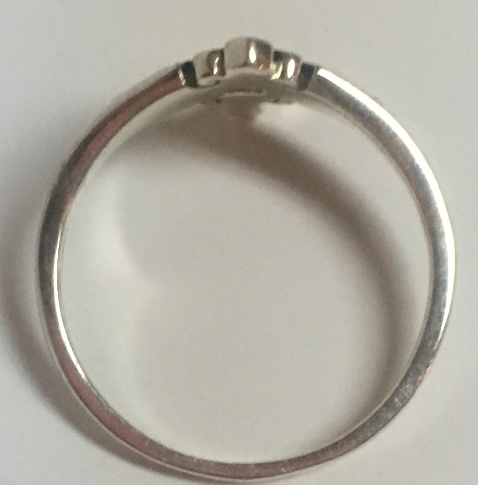 Sterling Silver 925 Cross Ring Size 7.5-8
