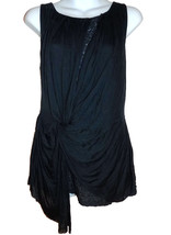 Deletta Anthropologie Tunic Top M dark blue jersey knit lace lining NEW - $30.00