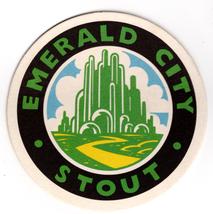 Cardboard Coaster (1)Collectible Man Cave/Craft Emerald City Stout River... - $3.13