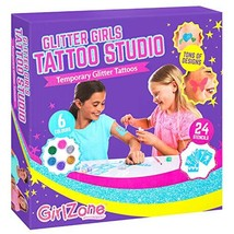 GirlZone: Temporary Glitter Tattoos Kit Including 33 Pieces, Best Birthd... - $18.03