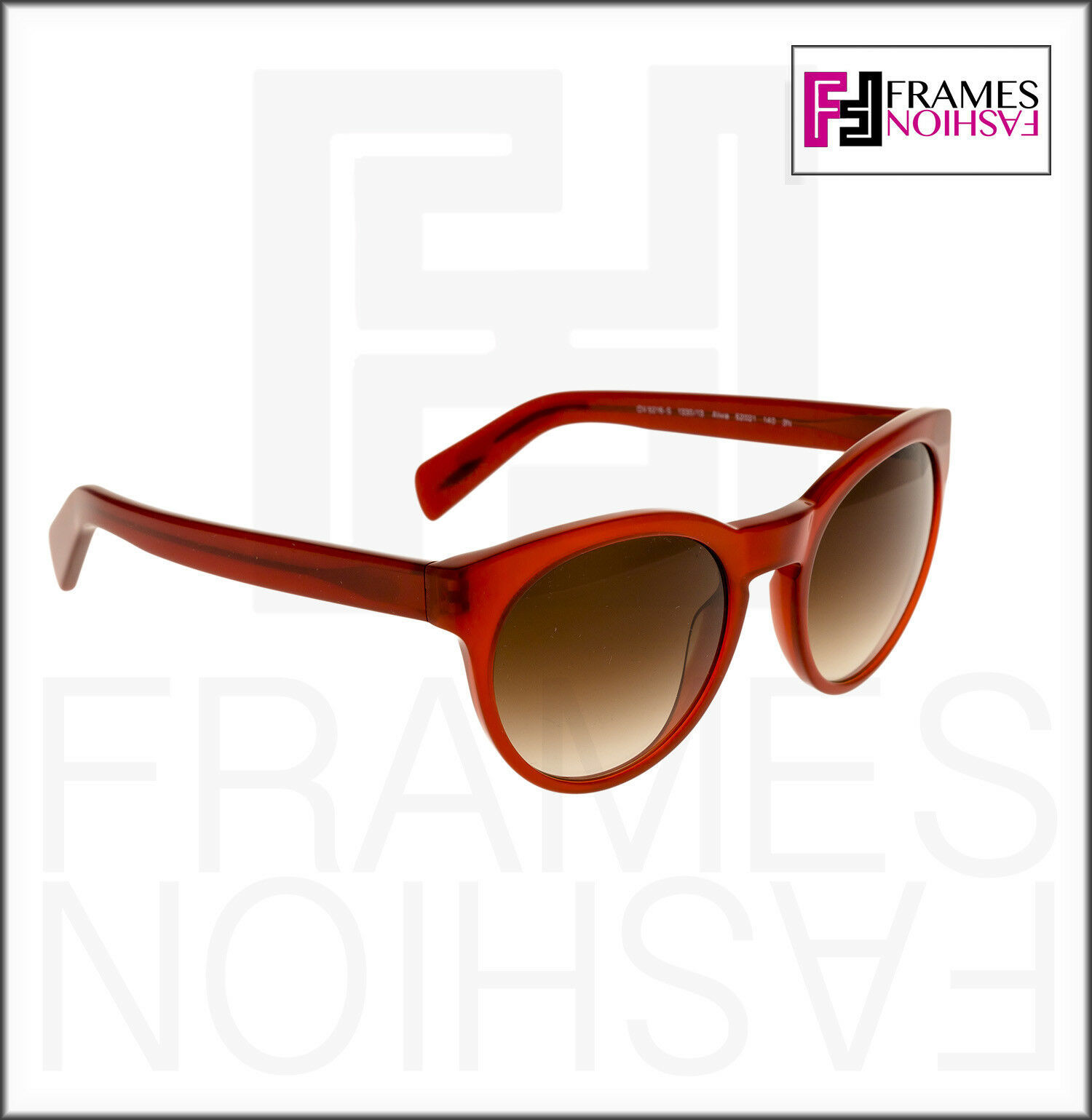 OLIVER PEOPLES ALIVIA OV5216S Red Blood Translucent Brown Round Sunglasses 5216 image 5