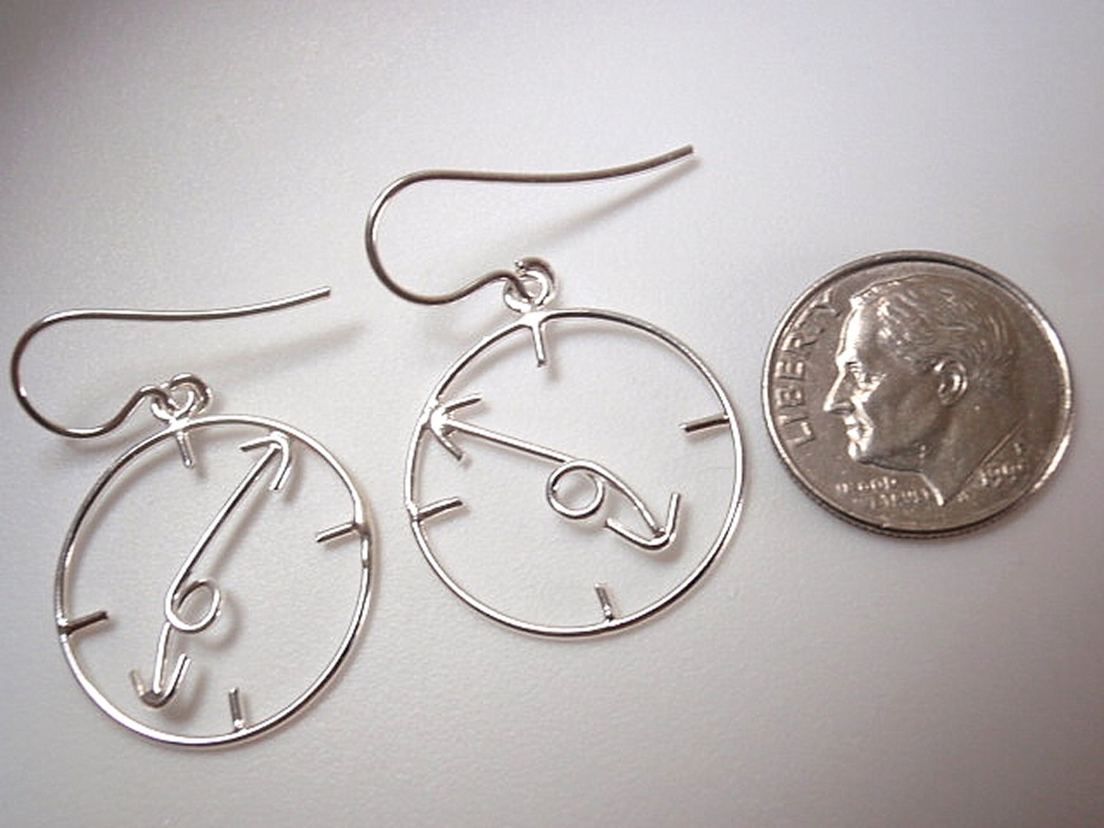 Primary image for Clock Dangle Earrings 925 Sterling Silver Corona Sun Jewelry Time