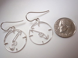Clock Dangle Earrings 925 Sterling Silver Corona Sun Jewelry Time - $17.81