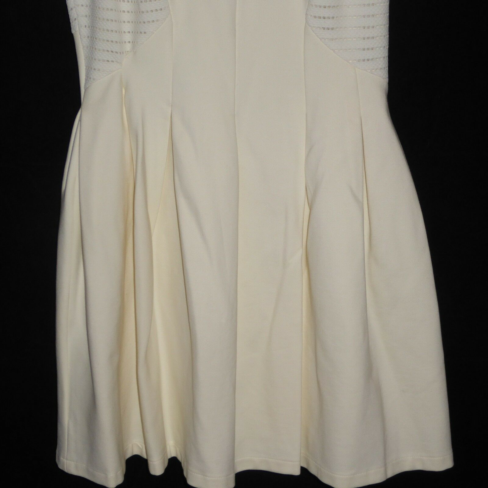 NWT BCBG Maxazria Medium Lined Dress Off White Color NEW $368 Sleeveless BackZip