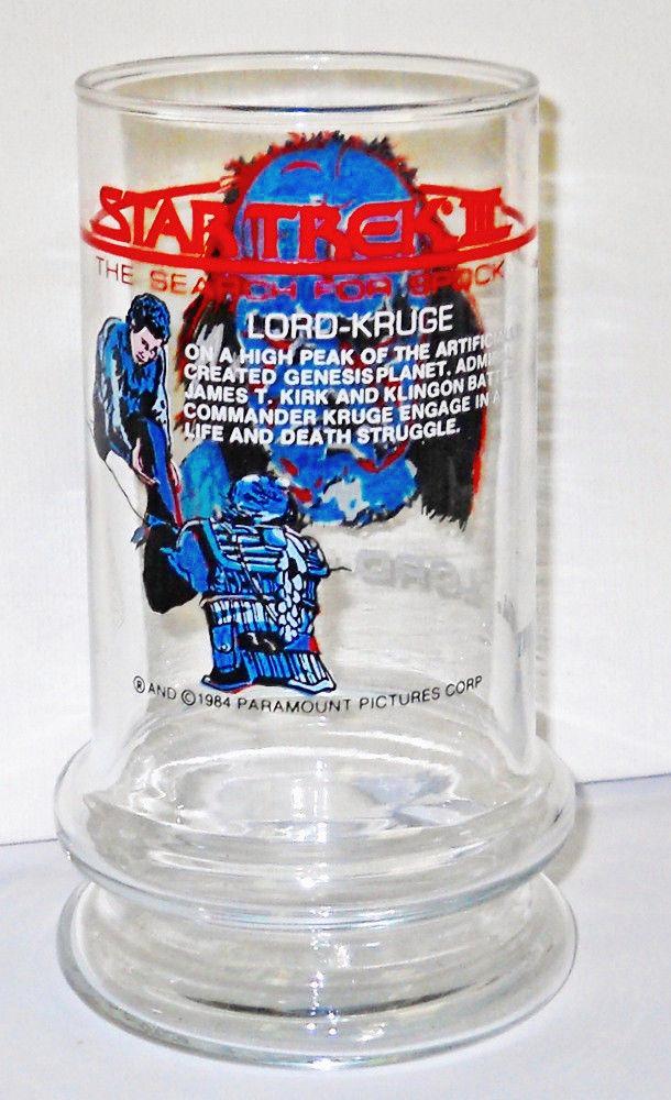 STAR TREK  LORD KRUGE Promo Glass Spock Lives Movie 1984 image 3