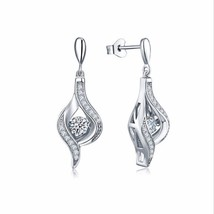 1.50 Carats Dancing Diamond Earrings - $99.00