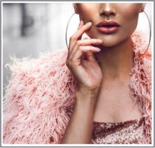 Luxury White or Pink Long Hair Mongolian Sheep Faux Fur Medium Long Coat Jacket image 5