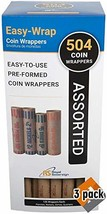 Royal Sovereign Preformed Coin Wrappers. 504 Assortment Pack, Penny, Nic... - $71.74