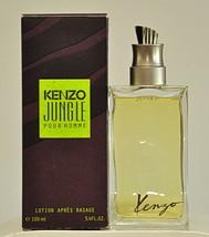 Kenzo Jungle Pour Homme Lotion Après Rasage 100ml 3.4 Fl. Oz. Splash 1997 - $180.00