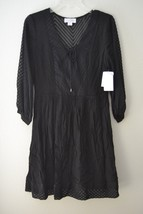 Jessica Simpson Womens Embroidered Chiffon Fit & Flare Dress, Black Sz 6... - $39.60