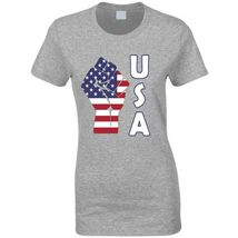 Fight Power Usa Ladies T Shirt image 12