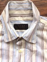 Robert Talbott Best of Class Long Sleeved Striped Button Front Dress Shi... - €19,31 EUR