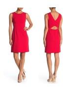 Betsy Johnson Womens Cutout Back Scuba Crepe Dress Red Sleeveless Size 8... - $26.72