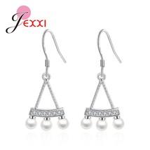 imitation pearl genuine 925 sterling silver drop earrings jewelry women wedding luxury thumb200