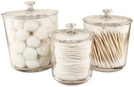 NEATOPOLIS Premium Acrylic Apothecary Jars Set of 3 | Crystal Clear Plastic Stor
