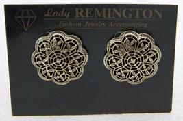 Lady Remington Lia Sophia 1980s Gold Tone DARLENE Openwork Post Earrings - $19.80