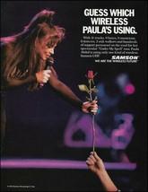 Paula Abdul 1992 Samson Wireless Microphone advertisement 8 x 11 mic ad ... - $3.95