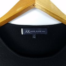 Anne Klein Black Sweater Dress Womens Size S Small 3/4 Sleeve Stretch Short image 3