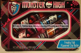 LOTTA LUV*5pc Tin Set MONSTER HIGH Lip Balms SCARY CHERRY+BITTEN BERRY+M... - $8.99
