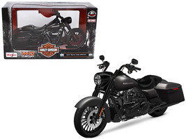 2017 Harley Davidson King Road Special Black Motorcycle Model 1/12 by Ma... - $29.02