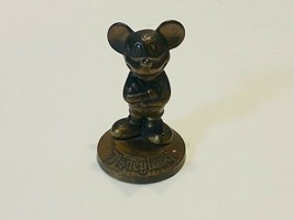"""Mickey Mouse Disneyland Paperweight Brass Vintage Souvenir 3"""" tall - $20.00"""