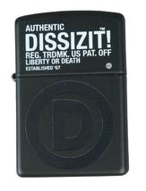 Dissizit! Los Angeles Schwarz Registered D Zippo Feuerzeug 2011 Slick Neu IN Box image 1