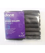 """Diane Soft Foam Cushion Hair Rollers Curlers Small 14-Pieces 5/8"""" Black ... - $4.50"""
