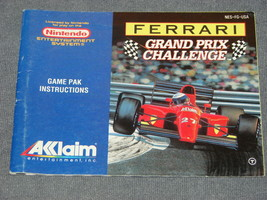 Nintendo NES: Ferrari Grand Prix Challenge [Instruction Book Manual ONLY] - $6.00