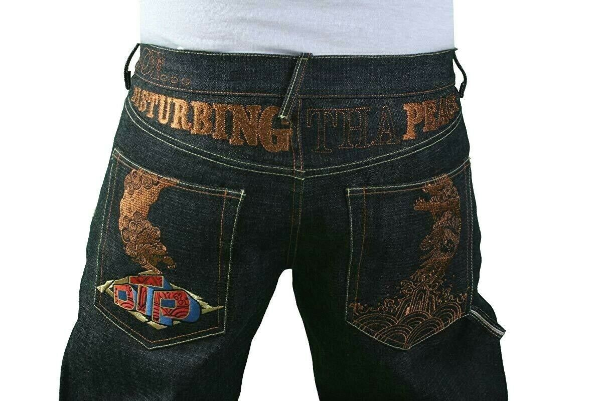 The Year Of DTP Ludacris Disturbing The Peace No War Raw Blue Jeans NWT Size: 38
