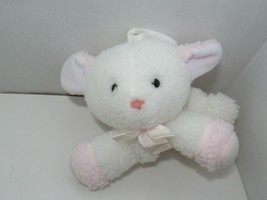 Dakin white pink lamb musical crib hanging pull toy Mary Had a Little Lamb - $29.69