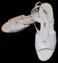 SAS Womens White Tripad Comfort Sandals 12N 12 N Narrow Leather - $41.49