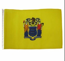 ALBATROS 12 inch x 18 inch State of New Jersey Sleeve Flag for use on Bo... - $17.38