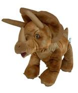 "Build A Bear Triceratops 16"" Plush Dinosaur Brown Standing Stuffed Anima... - $16.79"