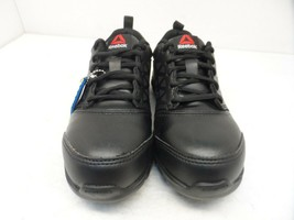 Reebok Women's Sublite Safety Cushion Work Shoes RB047 Black Leather Size 4M - $94.99