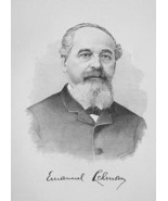 EMANUEL LEHMAN Germany Born Cotton Sugar Coffee Dealers - 1895 Portrait ... - $12.60