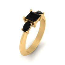 Past, Present and Future Represent 3 Stone Tapered Shank Engagement Ring Womens - $949.99