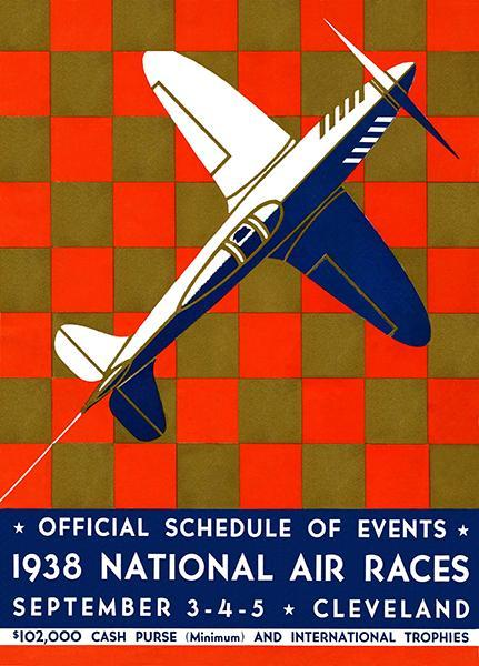 Primary image for 1938 National Air Races - Cleveland - Program Cover Poster
