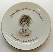 "American Greeting Last Treasures 4"" Plate Gold Rimmed ""Little Girls..."" - $12.86"