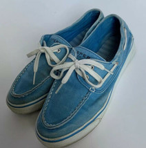 Sperry Top-Sider Shoes Sneakers 6 1/2 Lace Up Womens Light Blue Size 6.5 M - $17.45 CAD