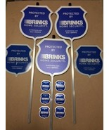 **NEW**    3 Reflective Brinks Security Yard Signs + 6  2-sided Decals - $59.99