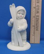 Snowbabies Dept Department 56 Figurine Winter Tales Lets Go Skiing Ski Skis - $9.89