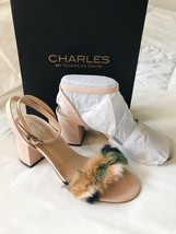 NEW Charles by Charles David Kandy Faux Fur Block Heel Sandal Size 7 M (... - $31.79