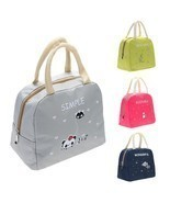 Lunch Bag Kitchen Organizer Insulated Picnic Bags School Food Holder Sto... - $190,66 MXN