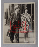 "Vintage 1940's Photo 3 x 3.75"" Couple business walking downtown Chicago IL - $9.85"