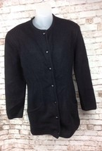 Missoni  Black Wool Long Cardigan Sweater Button Front Italian WomensSz ... - $79.95