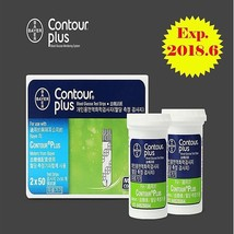 [Bayer]Contour plus Blood Glucose Test 100 Strips 1 Box Free Shipping Exp.2018.6 - $47.42