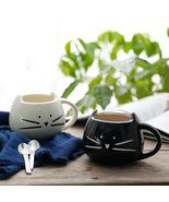 Cute Cat Cartoon Black White Animal Cup Mug Ceramic Creative Porcelain 4... - $16.75