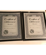 """9"""" x 12"""" Document Frame, Black/Silver Trim NEW IN PACKAGE Lot Of 2 - $8.90"""